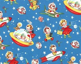 Retro Rocket Rascals Premium Cotton Fabric from Michael Miller Fabrics
