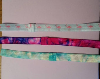 Set of 3 adult elastic headbands