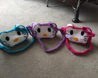 Crocheted Hello Kitty Purse