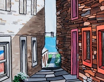 An Alleyway In Stromness Giclee Print