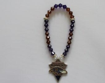 Baltimore Ravens Charm Bracelet