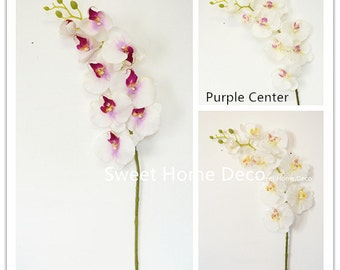 JennysFlowerShop 38'' Large Phalaenopsis Orchid Real Touch Artificial Flower Spray (Wedding/Party/Home Decorations)