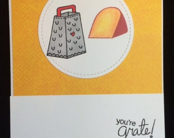 You're Great (Grate) Thank You or Encouragement Greeting Card