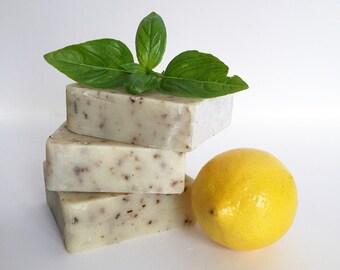 Lemon + Basil Kitchen Soap