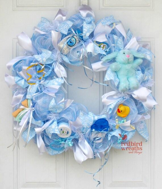 baby boy wreath it 39 s a boy baby shower wreath baby shower