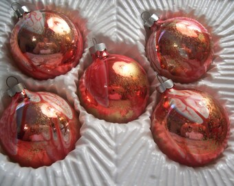 Five USA Christmas Ornaments
