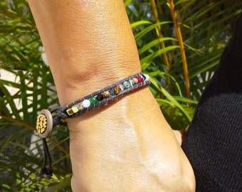 12 Tribes Bracelet with Fashion Button Clasp