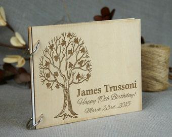 Personalized Maple Tree Guest Book, Wedding - Anniversary - Birthday - Retirement Guest Book/ Gift, Memory book, Rustic Theme, Great Gift