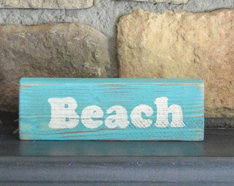 Rustic wood,  Beach sign,  wooden wall decor, wood shelf sitter, sign sayings, reclaimed wood signs, Beach  decor