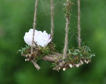 Fairy Swing by Olive* ~Handcrafted, each piece one of a kind, Terrarium Accessories, Fairy Swing, Miniature Garden