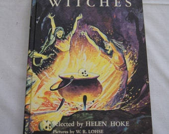 Vintage 1958 - Witches, Witches, Witches - Helen Hoke - Hardcover, Like New condition