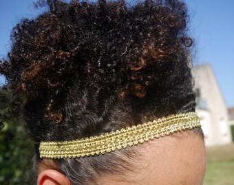 Headband Ruban Doré