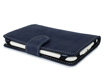 Personalized Navy Kindle Voyage Cover, Leather iPad Mini Covers, Tablet Cover, Leather Kindle Cover, iPad mini Cover Book, Tablet Case PR796