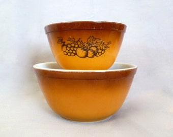 Pyrex Old Orchard Mixing Bowls