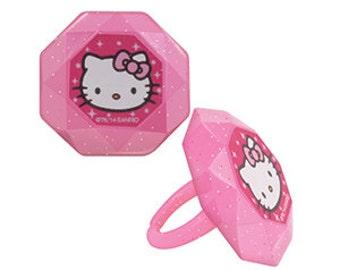 HELLO KITTY PRINCESS Cupcake Rings