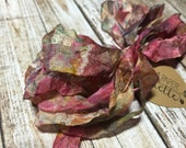 Hand Dyed Ribbon, Cottage Tea Time, seam binding colorfast crinkle for scrapbooks mixed media altered art jewelry wedding supplies