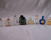 9  miniatures of french perfume Dior, Guerlain, Nina Ricci, Rochas, Armani, Van Cleef and Arpels