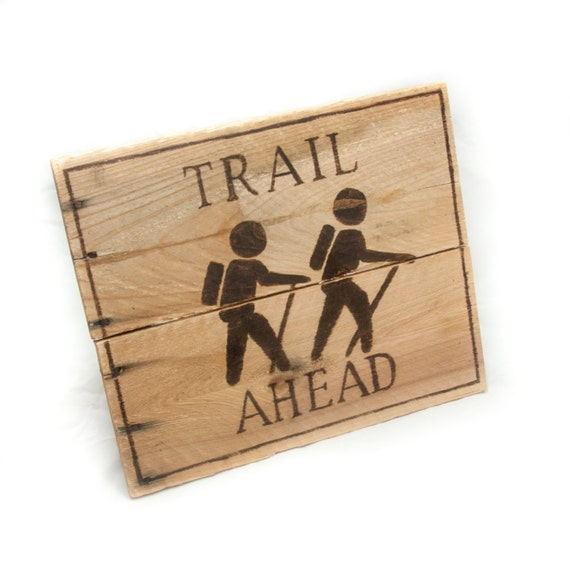 Summer Outdoor Wall Decor : Trail ahead outdoor gift wanderlust hiking camping