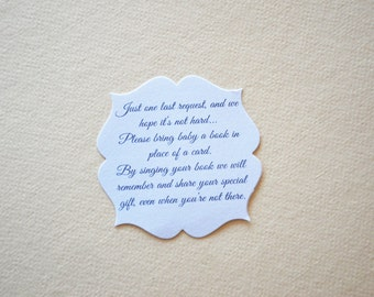 Baby Book Quote Card-  Baby Book Quote for Baby Shower - Hootsie
