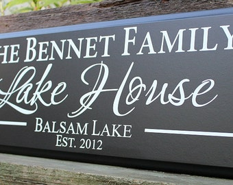 Personalized Lake House Sign-Lake House Decor wood lake sign-personalized lake decor-shore house decor-custom lake house sign-lake lover