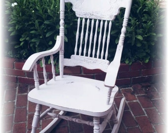 rocking chair pink rocking chair cottage rocking chair nursery