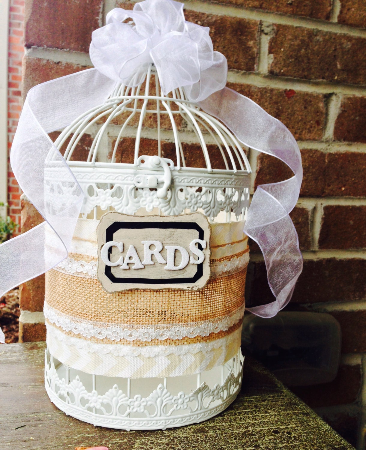 Wedding Card Bird Cage