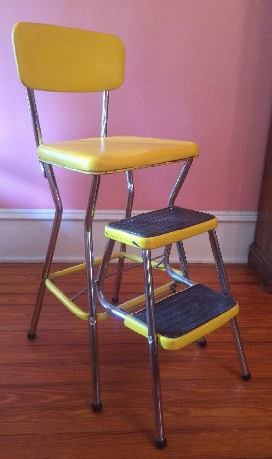 Vintage Cosco Step Stool Kitchen High Chair Fold Pull Out