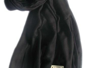 Black diamond pattern ring pashmina, cashmere shawl, cashmere scarf