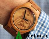 TREE HUT Wooden Watch, Groomsman Gift, Boyfriend Gift, Boyfriend Gift, Mens watch, Groomsmen gift, Anniversary Gift Bamboo Watch HUT0091