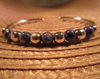 Sterling Silver Blue Lapis Bracelet
