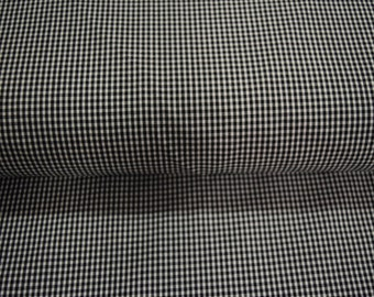 """Windsor Fabric Mini Gingham 1/8"""" Square Black And White Fabric 60 Percent Cotton 40 Percent Poly 60"""" Wide By The Yard 36"""" Long"""