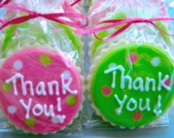 Bright Thank You Decorated Sugar Cookies