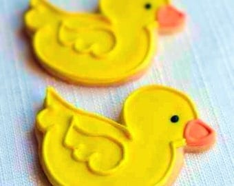 Duck Decorated Sugar Cookies