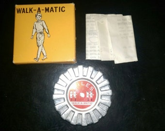 Vintage Walk-a-Matic Pedometer in Original Box with Original Instructions