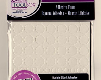 Darice's Double-Sided ADHESIVE FOAM CIRCLES ~ 88 pieces (60 pc - 1/4 in..6mm)  & (28 pc - 1/2 in...12mm) Acid Free/Photo Safe