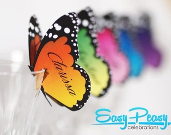 Butterfly Place Cards - 5 Colors