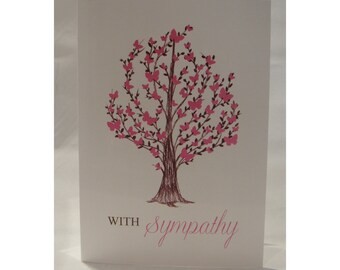 Butterfly Tree Sympathy Card