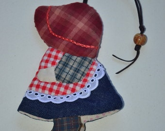 "Sun Bonnet Sue Handmade Key Cover,cotton, 4 x 5.5"""