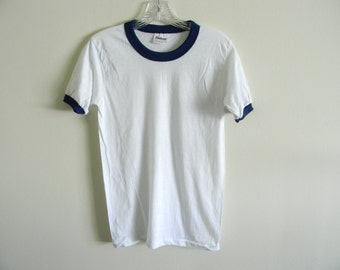 80's Stedman blank thin ringer t-shirt | Made in USA | Small | DEADSTOCK
