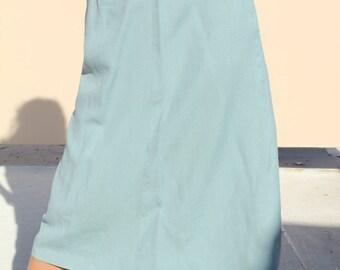 60s Sky blue Vintage skirt
