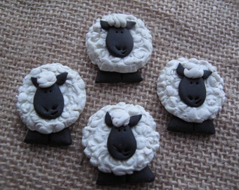 Handmade Crafting Embellishments...4pk...Sheep