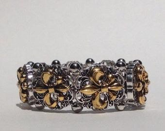 Garmin VivoSmart Bracelet: Silver & Gold Fraiser Fleur De Lis