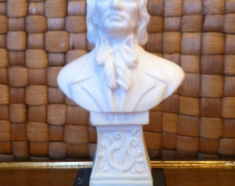 Cast Alabaster Bust of Composer Franz Liszt