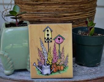 STAMPENDOUS=Garden Birdhouse-R063-1998