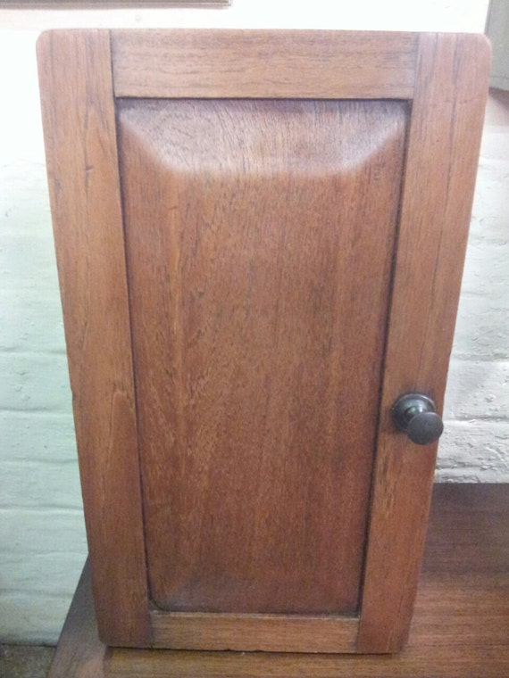 c1900s oak medicine bathroom cabinet cupboard by kellymariavintage