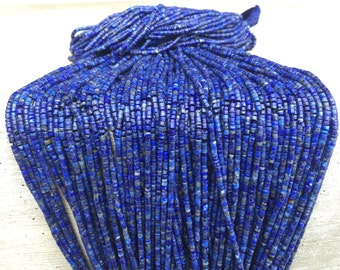 Lapis lazuli-bead Strand/Necklace Afghan turkmen Hand cut hand drilled/collectible/vintage/gypsy Style/Tribal/Ethnic NJB0207