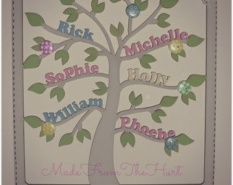 Hanging Personalised Family Tree Plaque