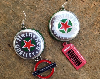 Custom Bottlecap Earrings