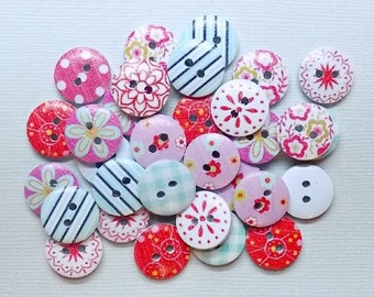 20 Random Mix colored Buttons - #WS-00004