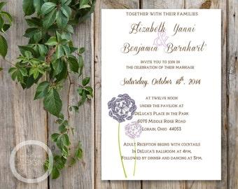 DIY - Printable Rustic Wedding Invitation